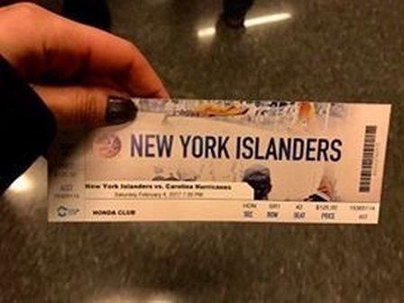 New York Islanders ticket