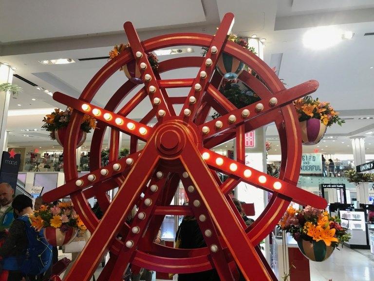 Macy's Flower Show wooden ferris wheel