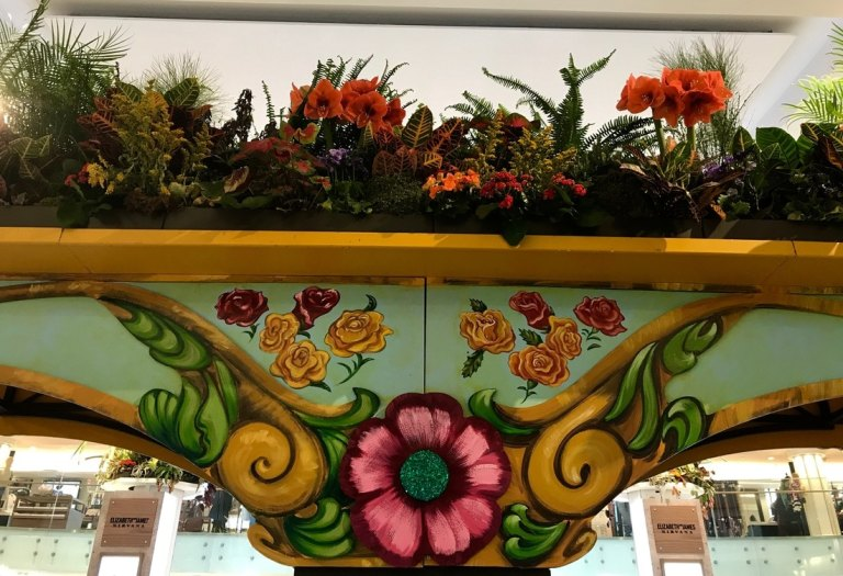 Macy's Flower Show ceiling display