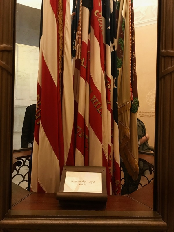 Ceremonial flags in Grant's Tomb