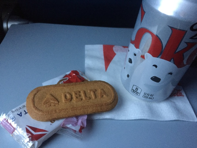 Snacks on Delta flight