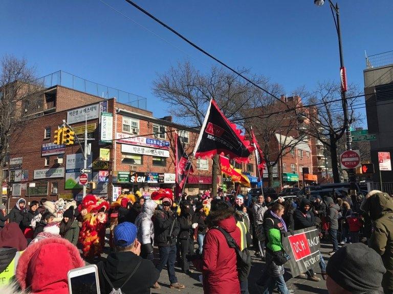 Flushing Lunar New Year parade crowd
