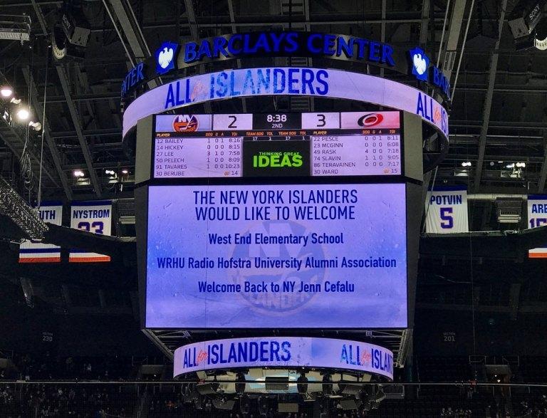 Personalized Islanders scoreboard