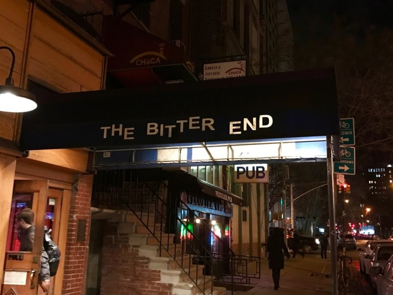 The Bitter End outside