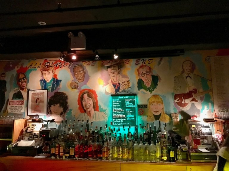 The Bitter End bar mural