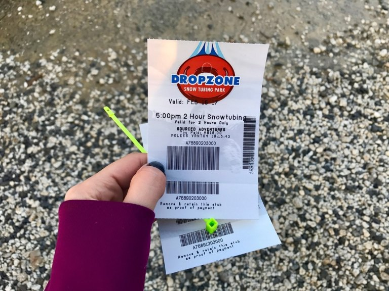 Snow tubing lift tickets at Mountain Creek