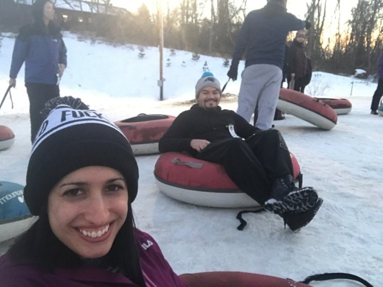 Snow tubing trip with Sourced Adventures