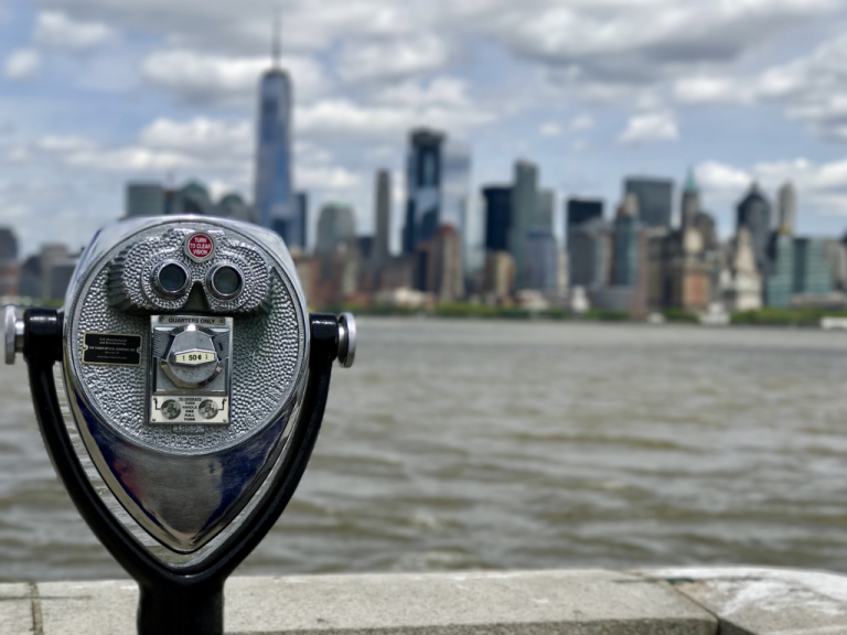 Tower viewer and New York City skyline