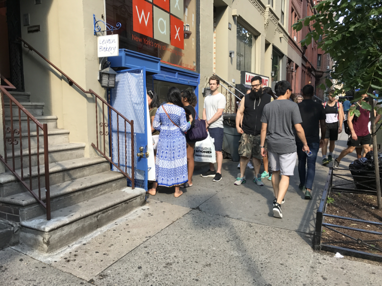 Line at Levain Bakery